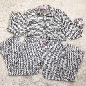 Victoria's Secret Signature Flannel & Silk Pajamas